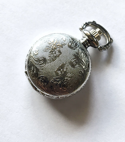 Silver Mini Steampunk Pocket Watch