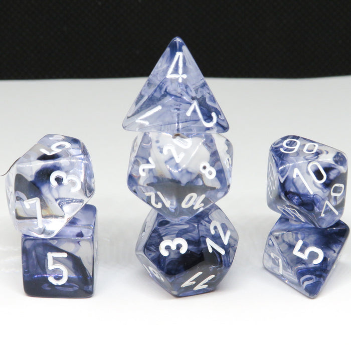 Nebula Black Polyhedral RPG Dice Set