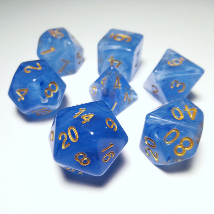 Midnight Sky Polyhedral RPG Dice Set