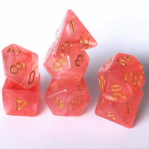 Tropical Sunrise Polyhedral RPG Dice Set