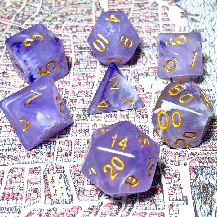 Twilight Sky Polyhedral RPG Dice Set