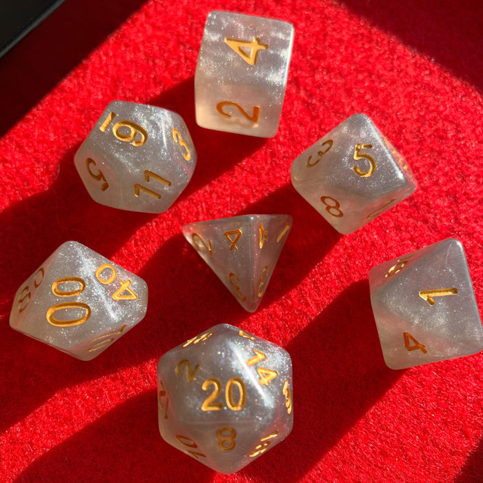 Universe in Onyx Polyhedral RPG Dice Set