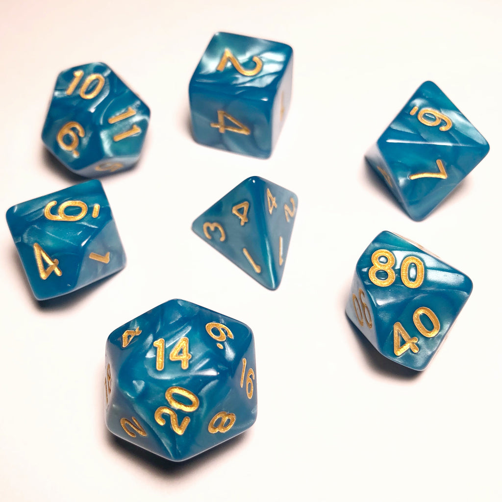 Pearl Blue Dice Set