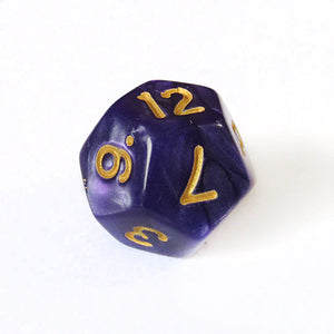 Purple and Gold Pearl Dice Bulk Pieces