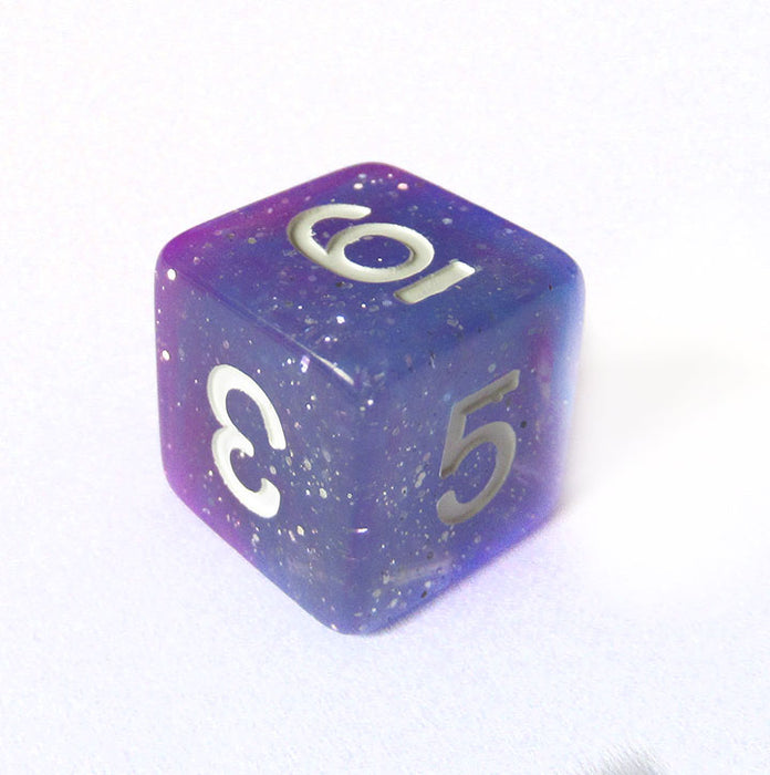 Purple and Blue Galaxy Dice Bulk Pieces