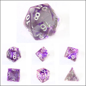 Purple Nebula Swirl Dice Bulk Pieces