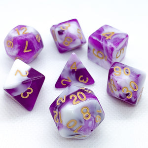 Purple Dragon Polyhedral RPG Dice Set