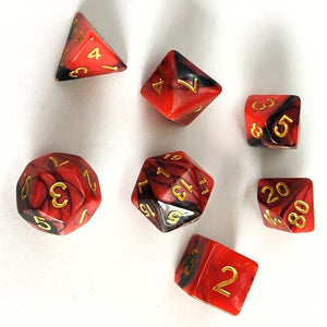 Creeping Darkness Polyhedral RPG Dice Set