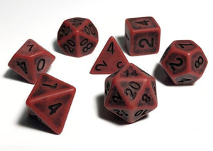 Red Ancient Bone Dice Polyhedral RPG Dice Set