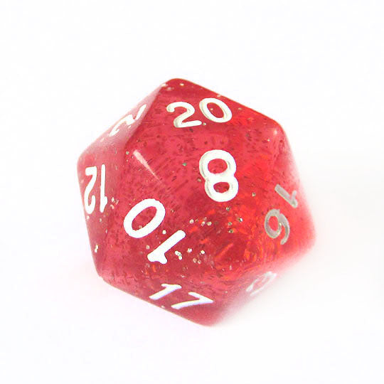 Red Translucent Sparkle Dice Bulk Pieces