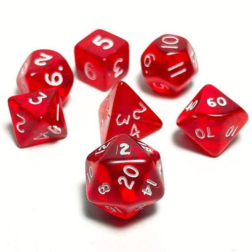 Red 10mm Dice Set