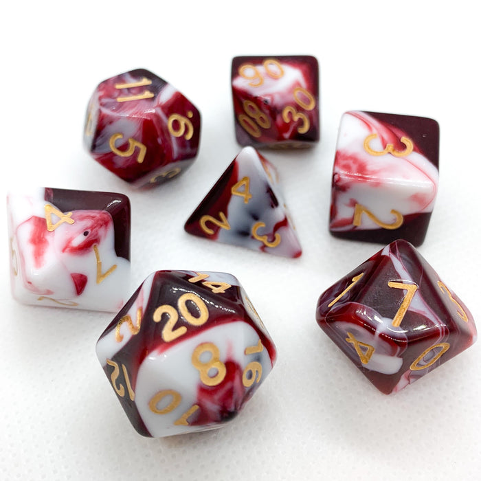 Red Dragon Polyhedral RPG Dice Set