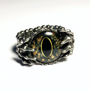 Reptile Eye Claw Ring