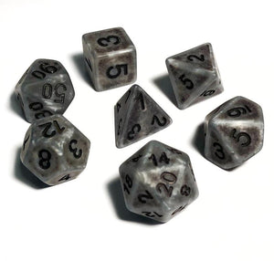 Silver Ancient Bone Dice Polyhedral RPG Dice Set