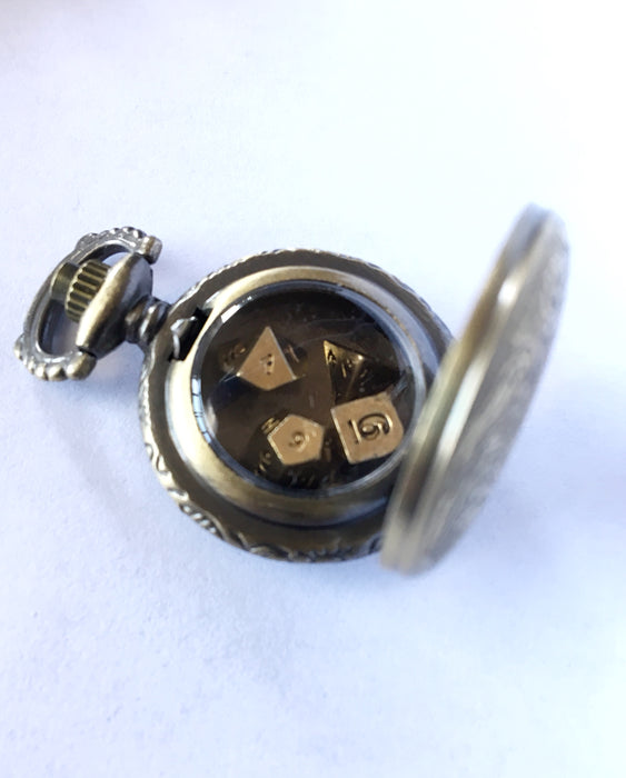 Mini Silver Steampunk Style Pocket Watch Shell