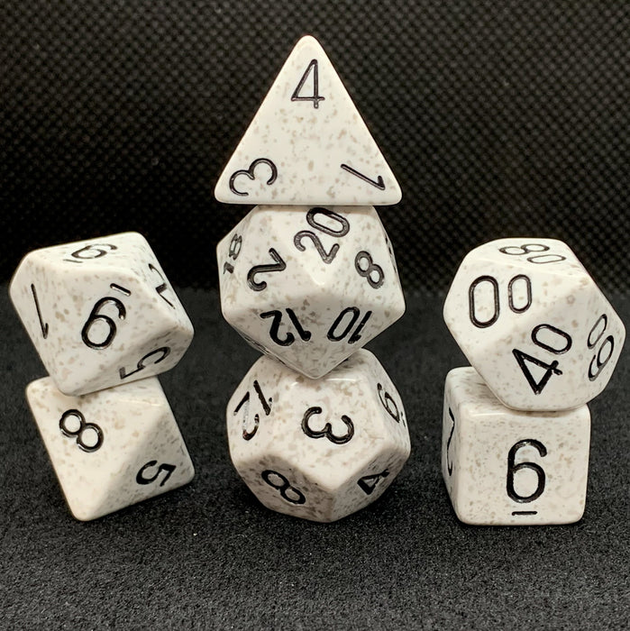 Speckled Arctic Camo Polyhedral RPG Dice Set