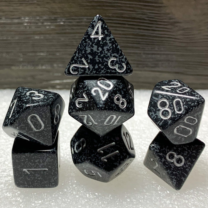 Speckled Ninja Polyhedral RPG Dice Set