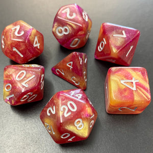 Starburst Polyhedral RPG Dice Set