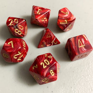 Vortex Burgundy Polyhedral RPG Dice Set