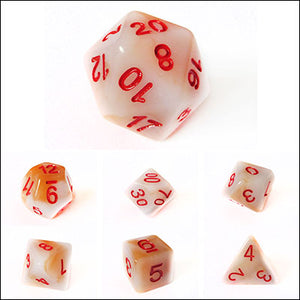 White Jade Dice Bulk Pieces