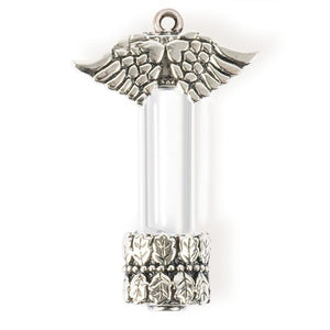 Winged Steampunk Style Vial Pendant
