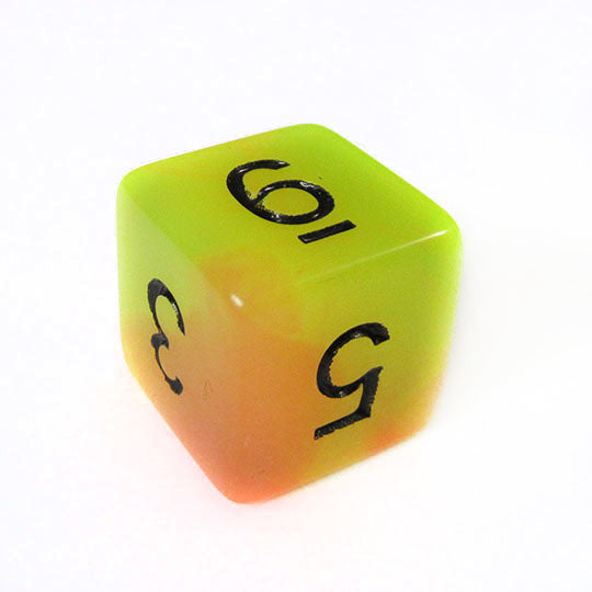 Yellow Orange Glow in the Dark Dice Bulk Pieces