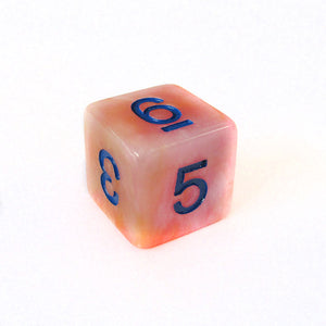 Yellow Rose Marble Dice Bulk Pieces