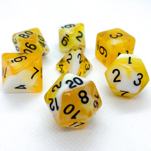 Yellow Dragon Polyhedral RPG Dice Set