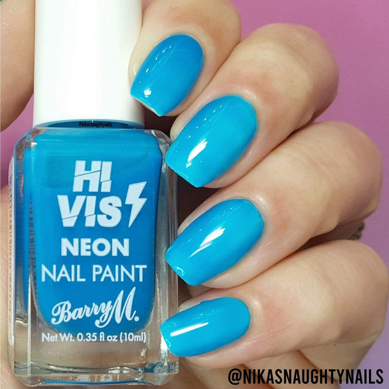 Hi Vis Neon Nail Paint | Blue Shock