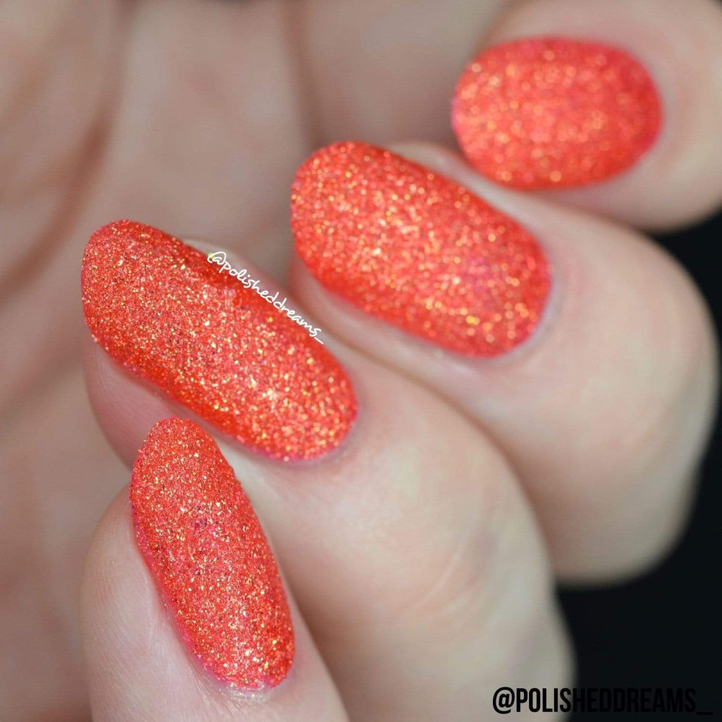 Crystal Rock Textured Nail Paint | Coral Sunstone