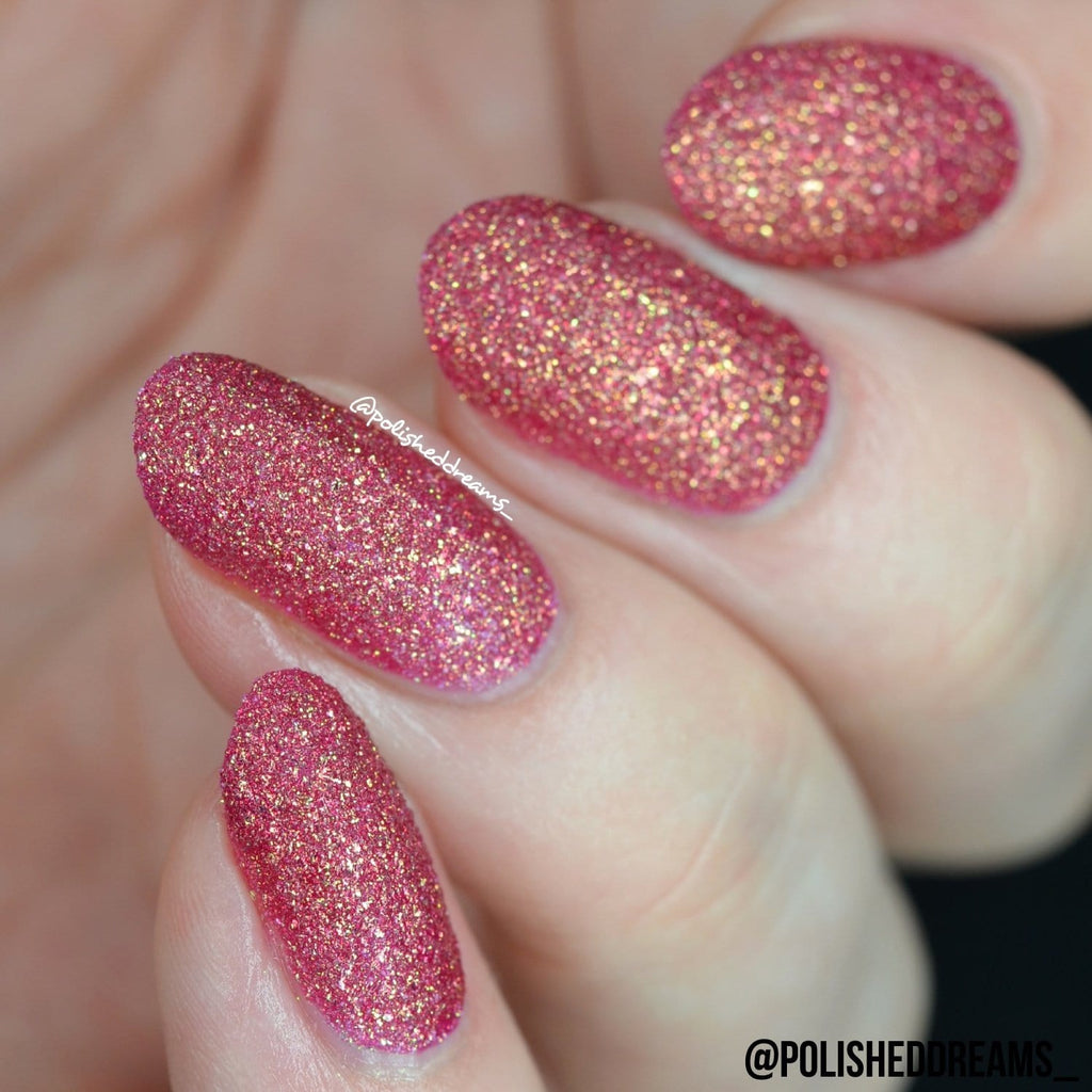 Crystal Rock Textured Nail Paint | Pink Tourmaline