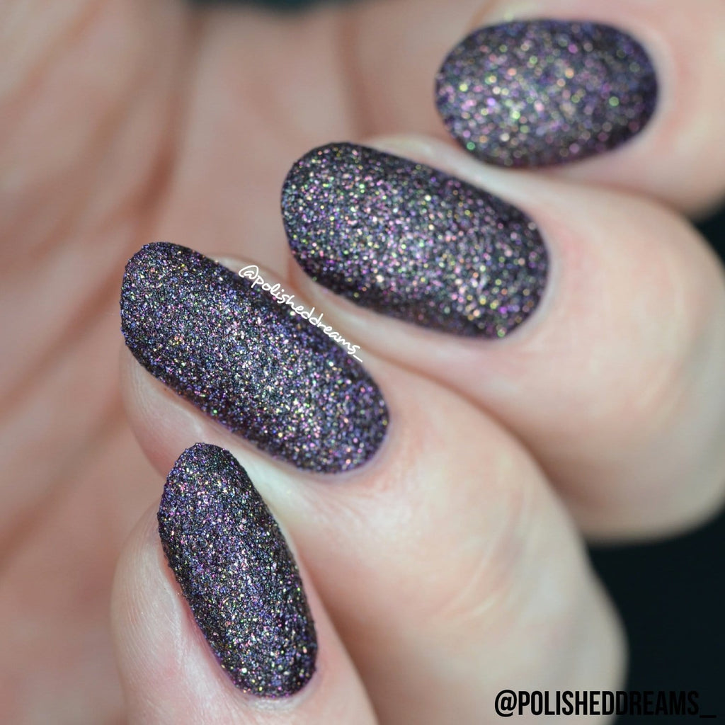 Crystal Rock Textured Nail Paint | Purple Agate