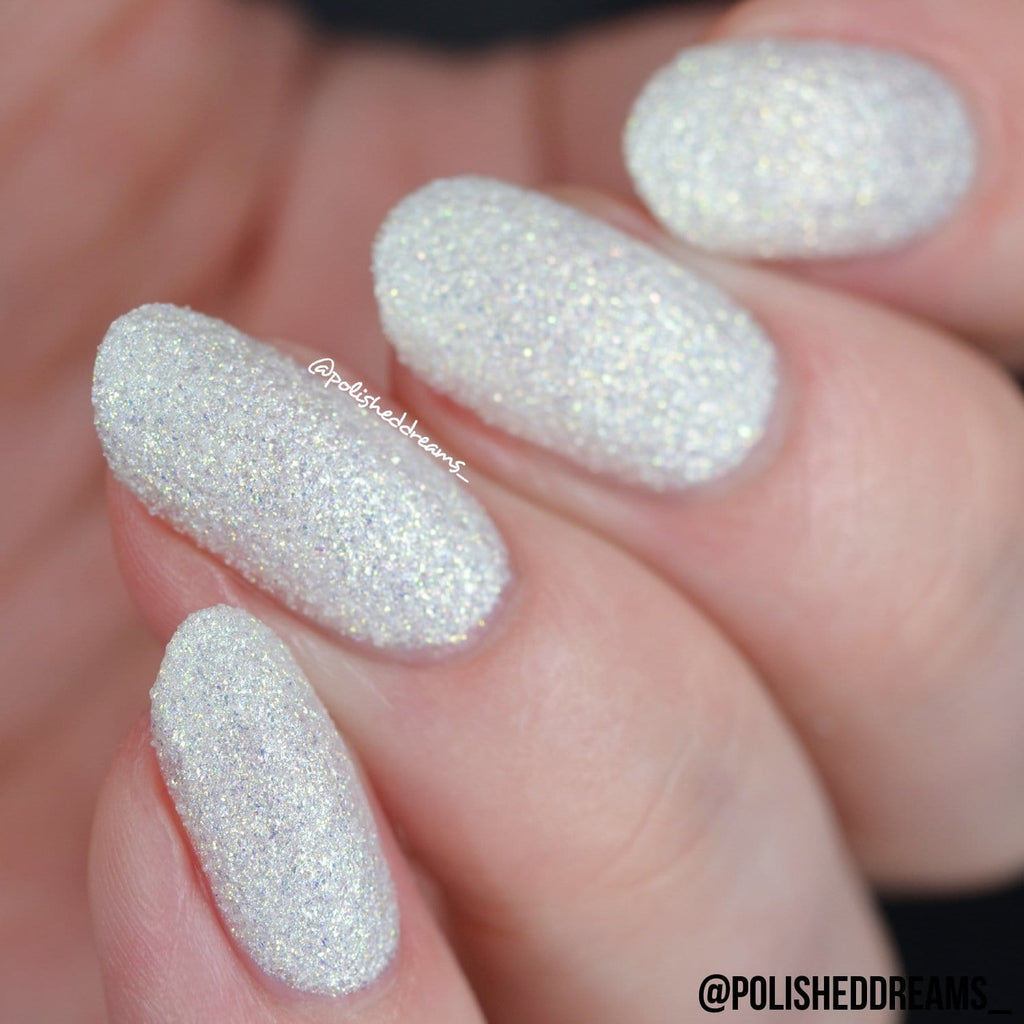 Crystal Rock Textured Nail Paint | White Moonstone