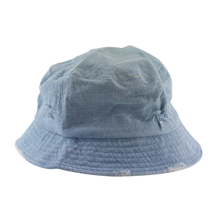 Casual Denim Jean Summer Bucket Hat Packable Sun Protection Cap