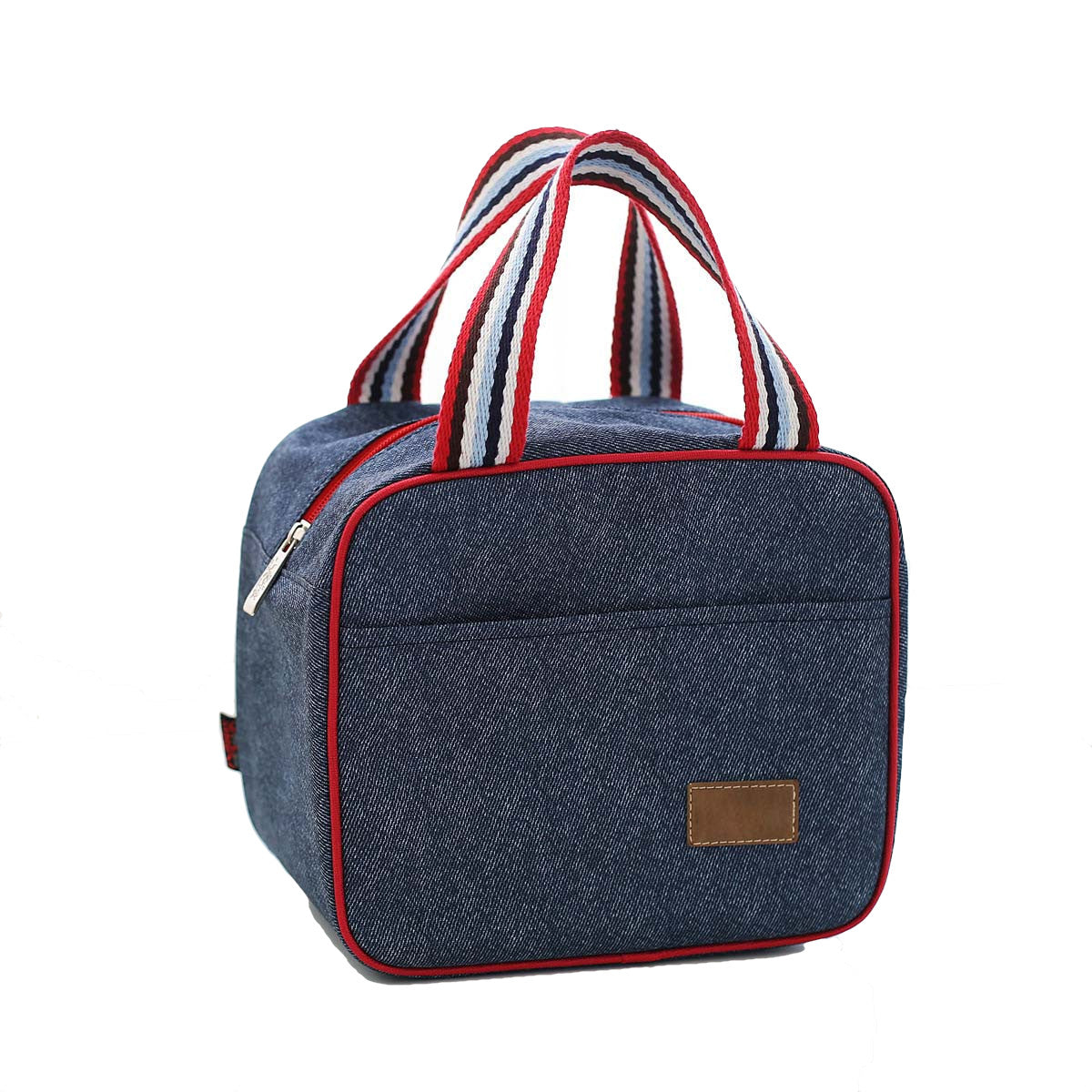 Denim Lunch Bag Insulated Lunch Tote Soft Bento Cooler Bag