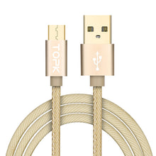 Topk Micro USB Cable [1.2M 1.8M] Denim Braided Fast Charge & Sync Data Mobile Phone USB Cable for Xiaomi Samsung Huawei Sony LG