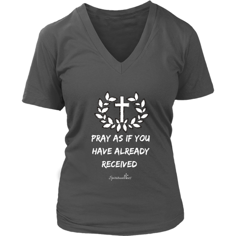 Pray As If Women's V-Neck