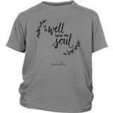 It Is Well With My Soul Youth T-Shirt [Black]