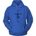 Faith Cross Unisex Hoodie [Black]