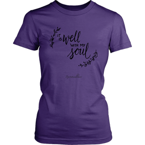 It Is Well With My Soul Women's Shirt [Black]