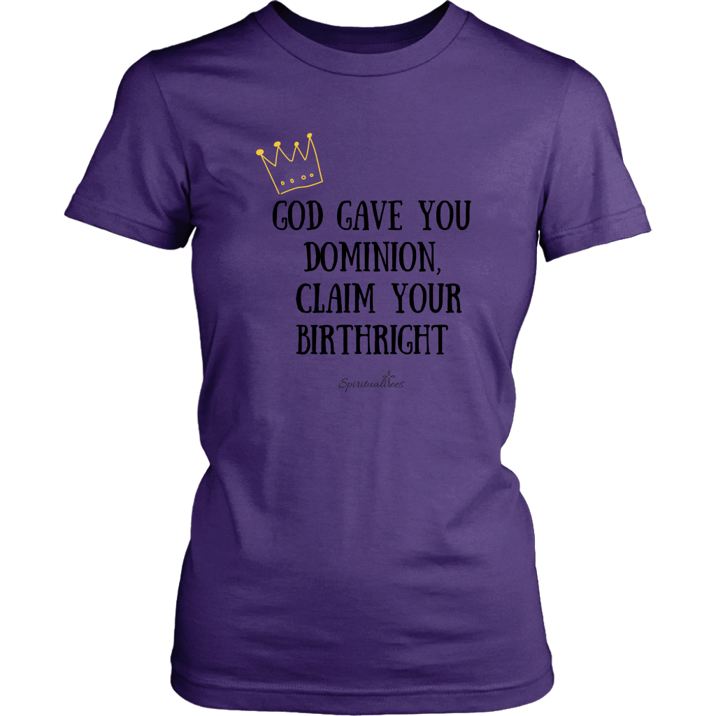 Claim Your Birthright Women's T-Shirt [Black]