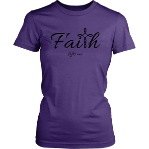 Faith Women's T-Shirt - Lifts Me [Black]