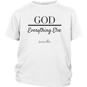 God Over Everything Else Youth T-Shirt [Black]