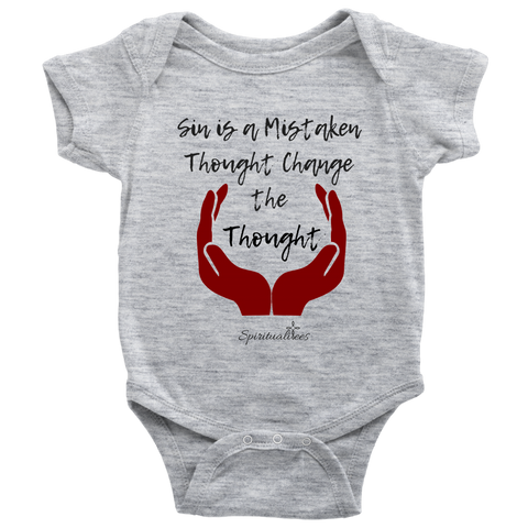 Change The Thought Baby Bodysuit [Black]