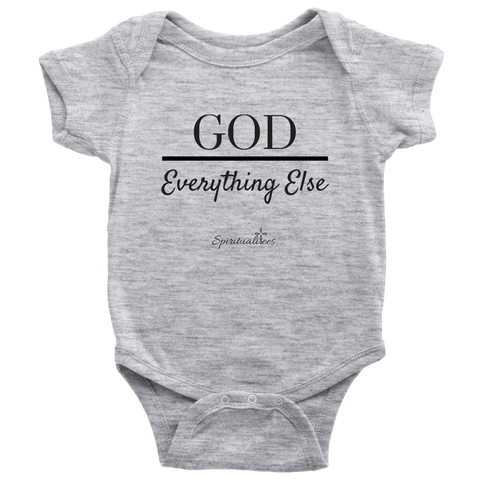 God Over Everything Else Baby Bodysuit [Black]