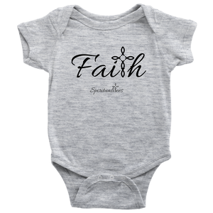 Faith Baby Bodysuit - Spiritualitees [Black]