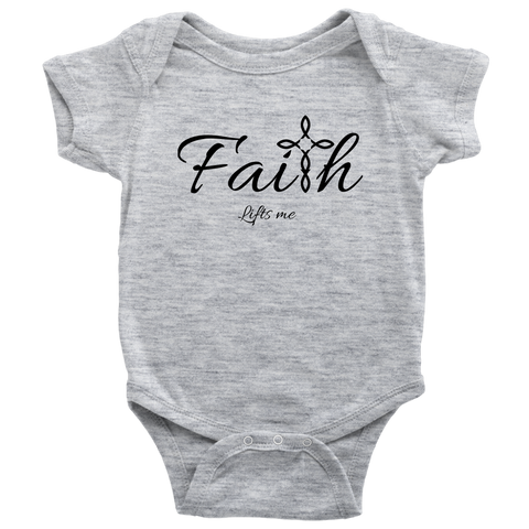 Faith Baby Bodysuit - Lifts Me [Black]