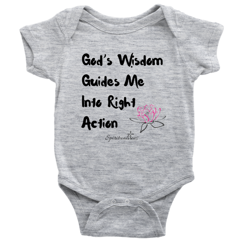 God's Wisdom Guides Me Baby Bodysuit