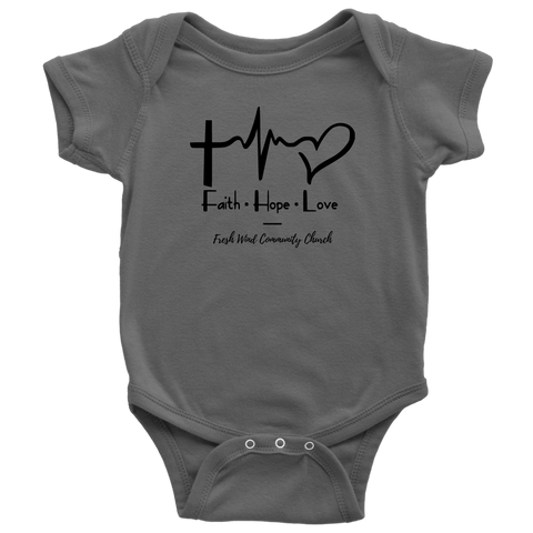 Fresh Wind Baby Bodysuit - Faith Hope Love