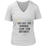 Claim Your Birthright Women's V-Neck [Black]